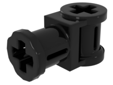 Black Technic Connector with Axle hole