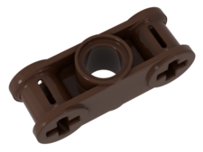 Brown Technic, Axle and Pin Connector Perpendicular 3L with Cent
