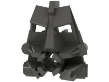 Dark Gray Bionicle Head Connector Block 3 x 4 x 1 2/3