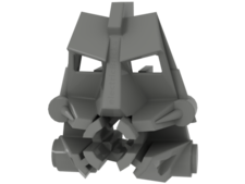 Light Gray Bionicle Head Connector Block 3 x 4 x 1 2/3