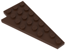Brown Wedge, Plate 8 x 4 Wing Right
