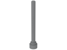 Light Bluish Gray Antenna 1 x 4 - Flat Top