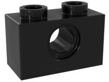 Black Technic, Brick 1 x 2 with Hole