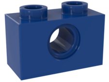 Blue Technic, Brick 1 x 2 with Hole