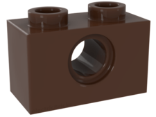 Brown Technic, Brick 1 x 2 with Hole
