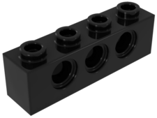 Black Technic, Brick 1 x 4 with Holes