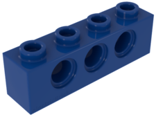 Blue Technic, Brick 1 x 4 with Holes