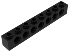 Black Technic, Brick 1 x 8 with Holes