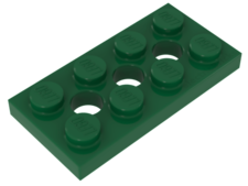 Green Technic, Plate 2 x 4 with 3 Holes