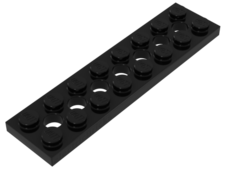 Black Technic, Plate 2 x 8 with 7 Holes