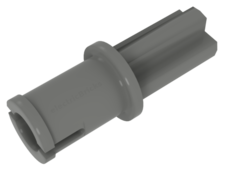 Light Bluish Gray Technic, Axle Pin WITHOUT Friction Ridges Lengthwise