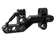 Black Bionicle Bohrok Shoulder, Liftarm 1 x 3 x 7