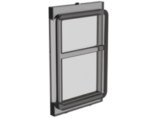 Trans-Black Glass for Train Door