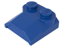 Blue Brick, Modified 2 x 2 x 2/3 Two Studs, Lip End