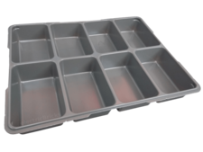 Dark Gray Storage/Sorting Tray - Eight Compartment