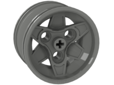 Light Gray Wheel 43.2mm D. x 26mm Technic Racing Small