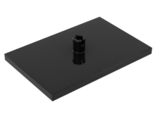 Black Train Bogie Plate (Tile, Modified 6 x 4 with 5mm Pin)