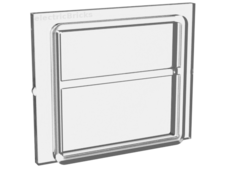 Trans-Clear Glass for Train Window 1 x 4 x 3