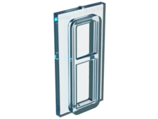 Trans-Light Blue Glass for Train Window 1 x 2 x 3