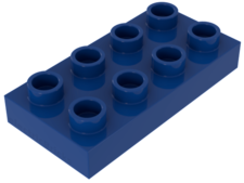 Blue Duplo, Plate 2 x 4