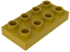 Yellow Duplo, Plate 2 x 4