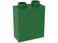 Bright Green Duplo, Brick 1 x 2 x 2 without Bottom Tube