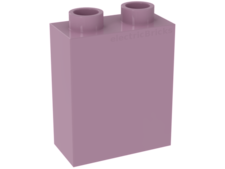 Bright Pink Duplo, Brick 1 x 2 x 2 without Bottom Tube