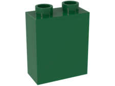 Green Duplo, Brick 1 x 2 x 2 without Bottom Tube