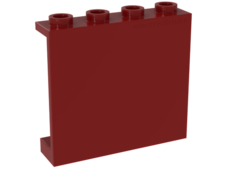 Red Panel 1 x 4 x 3 - Hollow Studs