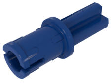 Blue Technic, Axle Pin WITH Friction Ridges Lengthwise On Shaft