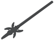 Dark Bluish Gray Minifig, Weapon Pike with 4 Side Blades
