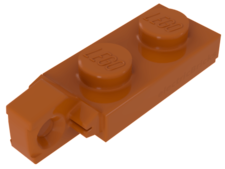 Orange Hinge Plate 1 x 2 Locking with 1 Finger On End
