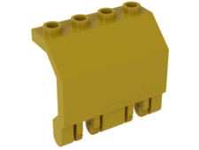 Yellow Hinge Panel 2 x 4 x 3 1/3 Locking Dual 2 Fingers