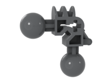 Dark Bluish Gray Bionicle Ball Joint 3 x 3 x 2 90 Degree with 2