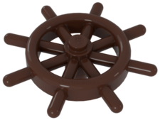 Reddish Brown Boat Ship's Wheel