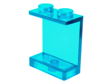 Trans-Light Blue Panel 1 x 2 x 2 - Hollow Studs