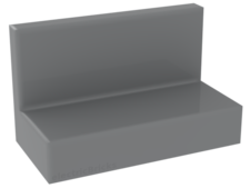 Light Bluish Gray Panel 1 x 2 x 1