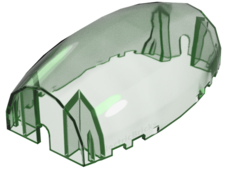 Trans-Bright Green Windscreen 10 x 6 x 3 Bubble Canopy Double Ta