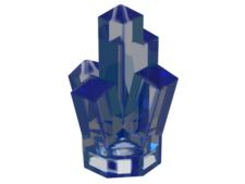 Trans-Dark Blue Rock 1 x 1 Crystal 5 Point