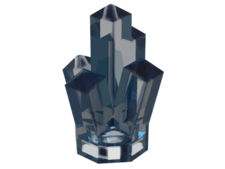 Trans-Medium Blue Rock 1 x 1 Crystal 5 Point