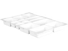 White Dacta Storage Bin Upper Tray - 13 Compartment (fits new style storage bins)