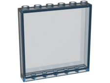 Trans-Light Blue Panel 1 x 6 x 5