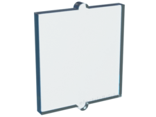 Trans-Light Blue Glass for Window 1 x 2 x 2 Flat Front