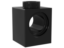 Black Technic, Brick 1 x 1 with Hole