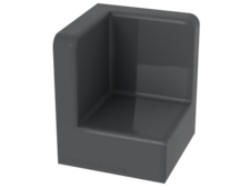 Dark Bluish Gray Panel 1 x 1 x 1 Corner