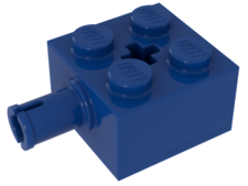 Blue Brick, Modified 2 x 2 with Pin and Axle hole