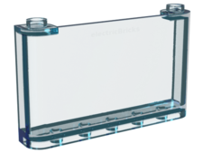 Trans-Light Blue Windscreen 1 x 6 x 3