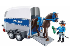 Police with Horse and Trailer
