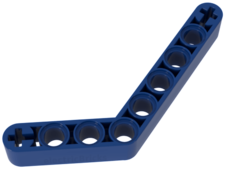 Blue Technic, Liftarm 1 x 9 Bent (6 - 4) Thick