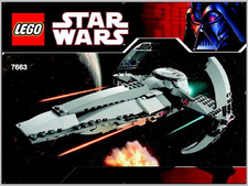 Original Instructions for Set  7663 - Sith Infiltrator